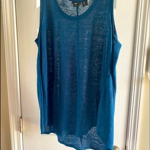 New, without tags, 100% linen teal tank top